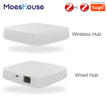 Tuya ZigBee Smart Gateway Hub Smart Home Bridge Smart Life APP Wireless Remote Controller Works with Alexa Google Home cheap MoesHouse Smart Life Tuya App 2 4GHz 50 for wireless 300 for wired -10 Celsius~55 Celsius 5V 1A 10 -90 RH (no condensation)