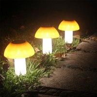 Mushroom LED Solar Light Outdoor Waterproof Solar Power Garden Light Creative Solar Lawn Lamp for Path Yard Landscape Xmas
