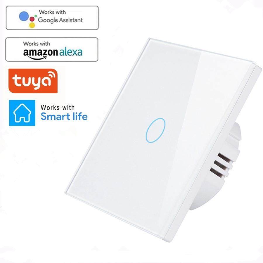 WIFI Wall Touch Sensor Switch EU RF433+ WIFI Smart Light Switch 1 2 3 Gang 220V Tuya Smart Home Kit Support Alexa Google Home