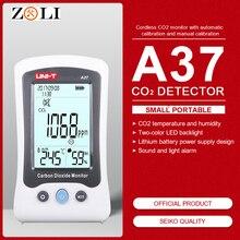 A37 цифровой детектор качества воздуха внутренний/открытый HCHO& TVOC тестер CO2 метр монитор тестер с перезаряжаемой батареей