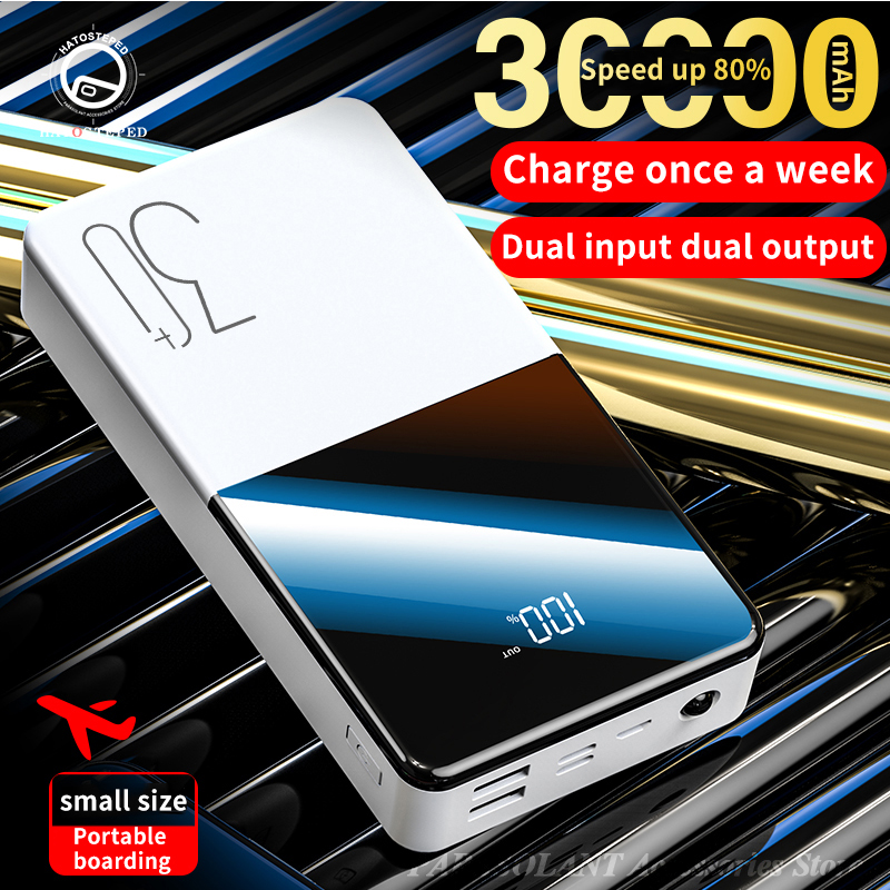 Portable Power Bank 30000mAh External Battery With QC Two-way Fast Charging For Phone 5