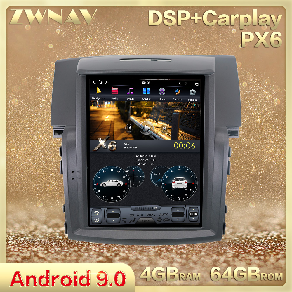 PX6 Vertical Tesla screen 4+64 Android 9.0 Car <font><b>Multimedia</b></font> Player For <font><b>Honda</b></font> <font><b>CRV</b></font> <font><b>2012</b></font>-2016 GPS Navi Radio stereo BT wifi head unit image