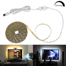 Led-Light-Tape Decor-String Tiras Tv Backlight Dimmable-Switch Waterproof Flexible SMD2835