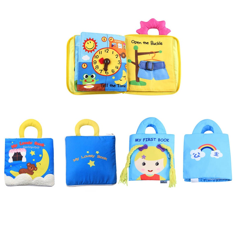 Baby Kids Intelligence Development Book Soft Cloth Cognize Book Infant Toy Gift