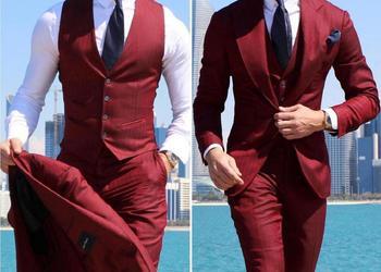 Classy Wedding Tuxedos Suits Slim Fit Bridegroom For Men 3 Pieces Groomsmen Suit Male Cheap Formal Business  (Jacket+Vest+Pants) 10