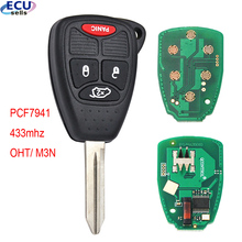 3+1 buttons Remote Key Fob With PCF7946 Chip 433mhz for Chrysler 300C Sebring PT Cruiser 05179516AA OHT M3N both can for