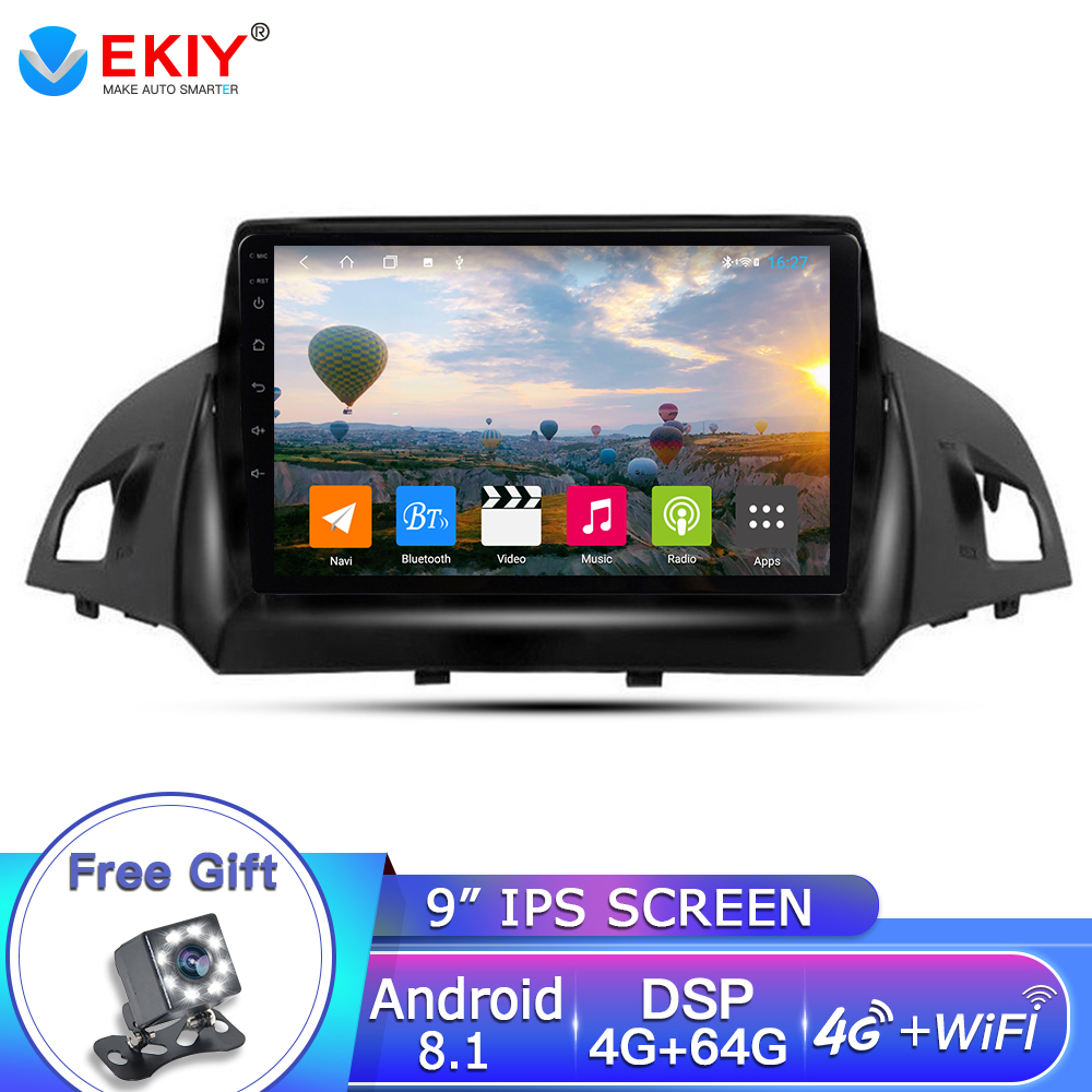 EKIY 9 ''<font><b>2Din</b></font> <font><b>Android</b></font> 8.1 Auto Radio Für <font><b>Ford</b></font> Kuga 2013-2017 Auto Multimedia Video Player Gps Radio Navigation <font><b>2din</b></font> Dvd Player image