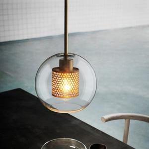 Image 3 - נורדי מודרני פשוט זכוכית כדור יחיד ראש E27 LED תליון אורות אישיות דקורטיבי תאורה לסלון חדר שינה קפה