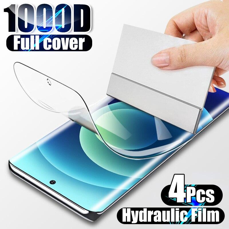 Гидрогелевая пленка для Samsung Galaxy S10 S10E Note 20 10 Plus S20 FE S21 Ultra A50 A51 A52, 4 шт., защитная пленка для экрана