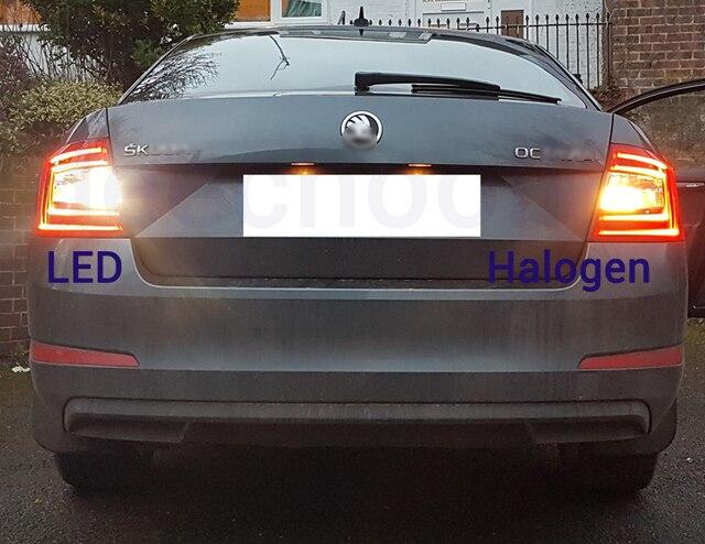 Ampoule LED blanche Canbus pur inverse + lumière de jour DRL + Position de stationnement pour 2009-2012 Skoda Octavia 2 MK2 A5 FL 1Z lumière de miroir