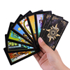 78 Cards Holographic Shiny Tarot Cards Waite Full English Mysterious Edition For Astrology Laser Tarot Cards Board Game
