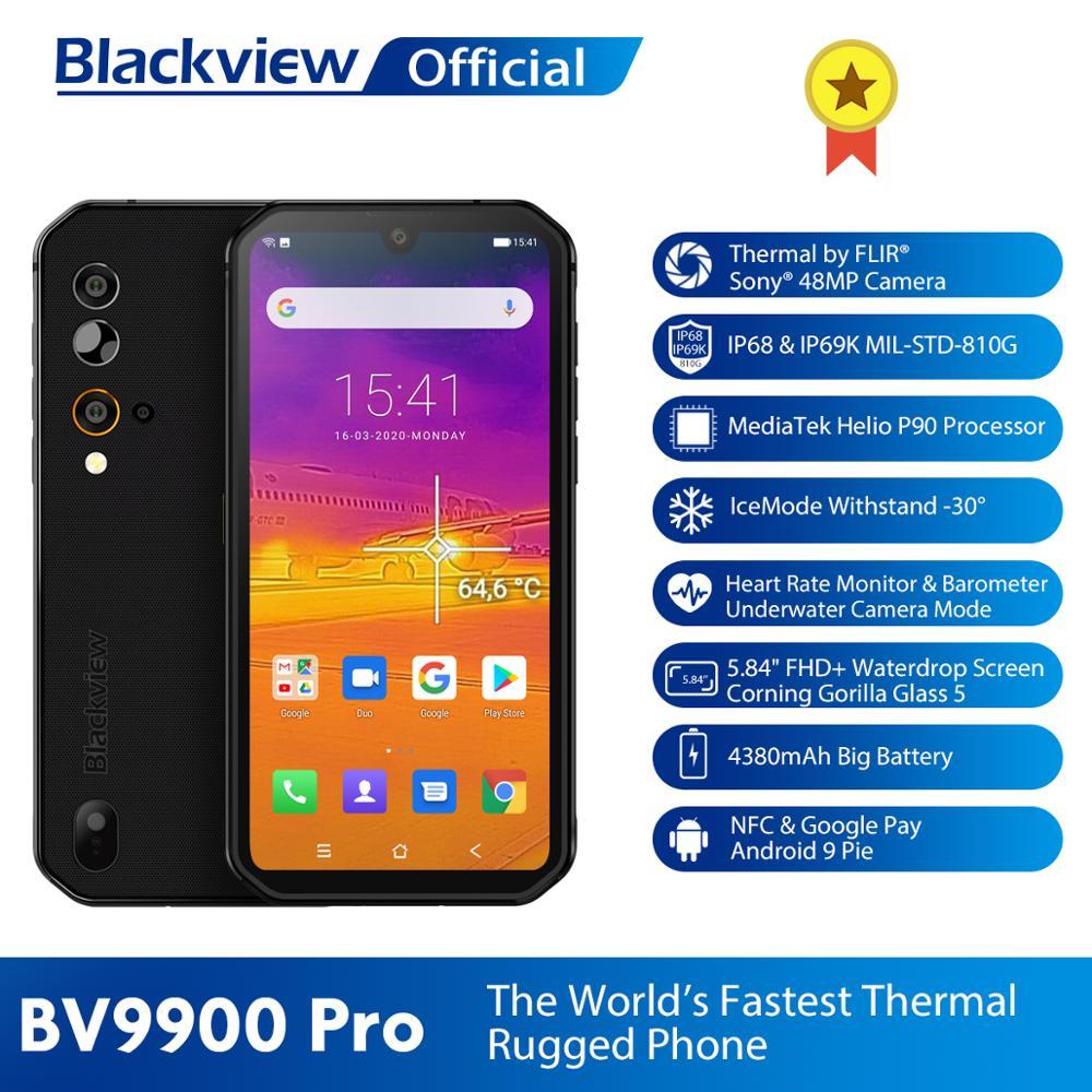 Blackview BV9900 Pro Thermal Camera Mobile Phone Helio P90 Octa Core 8GB+128GB IP68 Rugged Smartphone 48MP Quad Rear Camera(China)