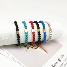 2019 New Fashion Nature Stone Bracelet for Women Men Golden Heart Beads Bracelet Trendy Hand Jewelry Gift For Friend Wholesale(China)