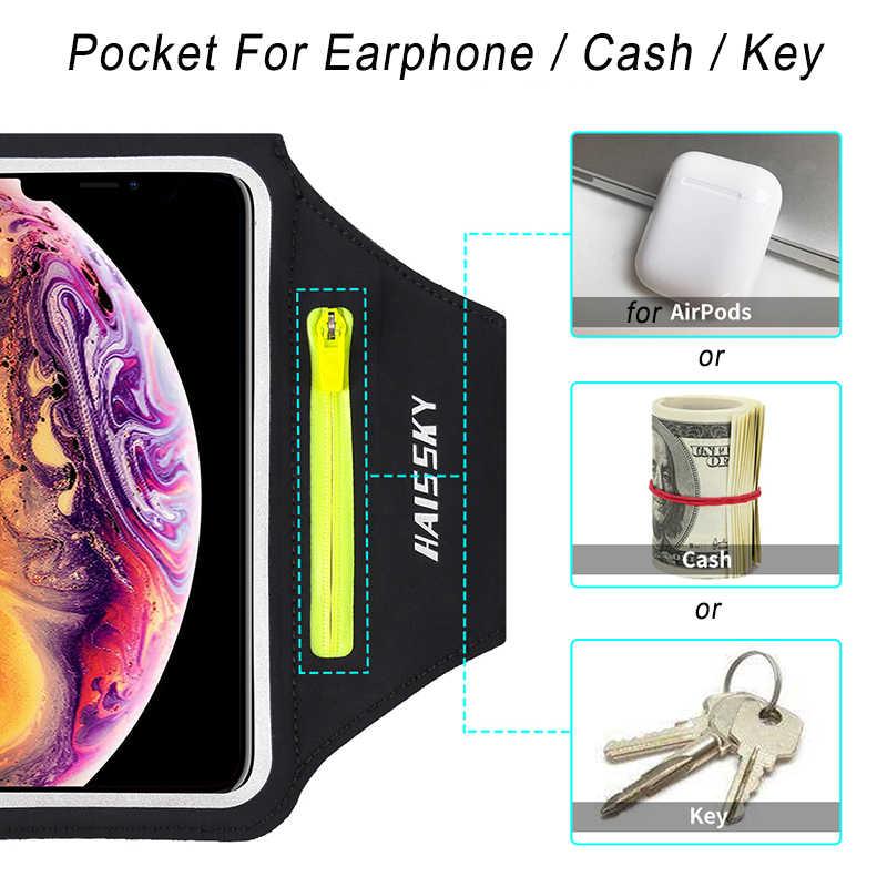 ריצה ספורט טלפון מקרה להקת זרוע עבור iPhone 11 פרו מקסימום X XR 6 7 8 בתוספת Samsung הערה 10 s10 S9 P30 כושר סרטי זרוע עבור Airpods תיק