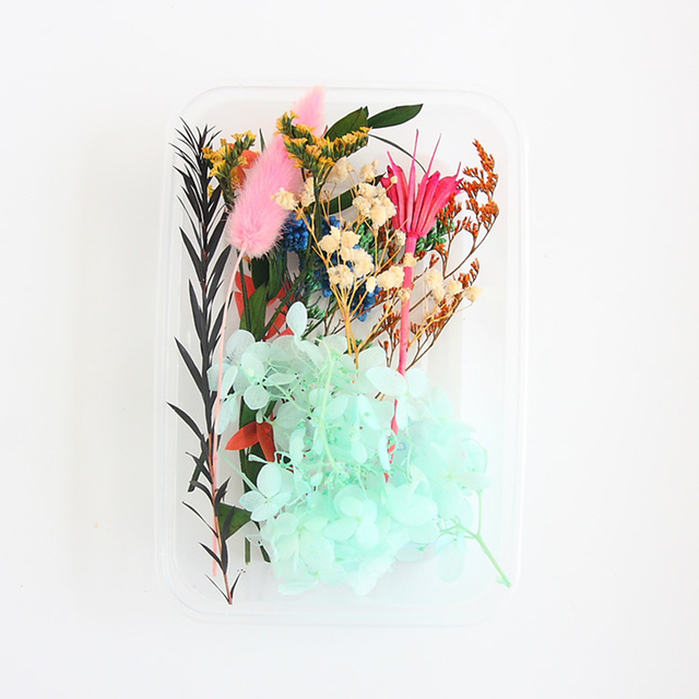 1Box 17*12*4cm Mix Dry Real Flowers Random Natural Floral Beauty Nail Art Dried Flower Epoxy Resin Mold Jewelry Making DIY