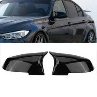 Capa retrovisor-estilo m4 para bmw f20 f21 f87 m2 f23 f30 f36 x1 e84 brilho preto espelho lateral