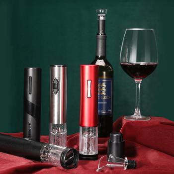 Automatyczny otwieracz do butelek do czerwonego wina aluminiowym nożem elektryczny otwieracz do czerwonego wina otwieracz do słoików akcesoria kuchenne gadżety otwieracz do butelek # tanie i dobre opinie NoEnName_Null CN (pochodzenie) Otwieracze Czerwone wino