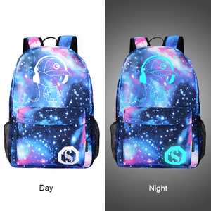 Image 2 - DIOMO Cool Luminous School Bags for Boys and Girls Backpack with USB Charging Anime Backpack For Teenager Girls Anti theft