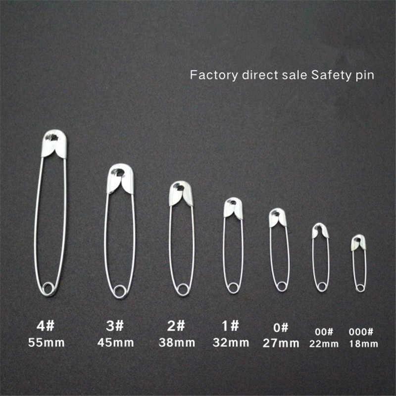 1000 Pcs Perak Nada Safety Pins DIY Alat Alat Jahit Aksesori Stainless Steel Jarum Pin Bros Aksesoris Pakaian