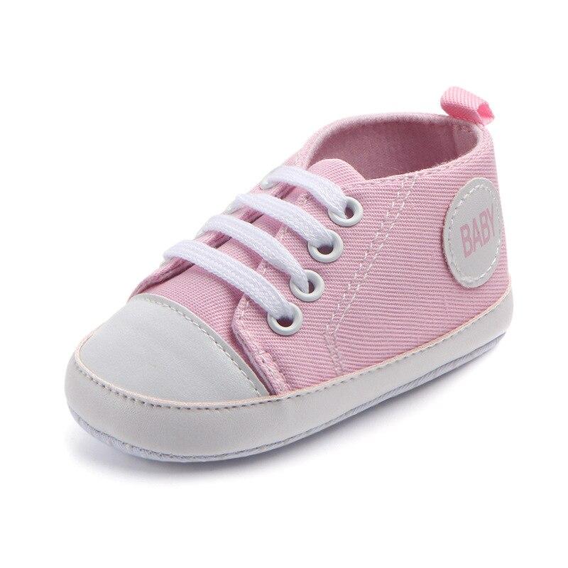 Chaussures bébé Garçon Fille Solide Sneaker Coton Doux Semelle Antidérapante Nouveau-Né Infantile Premiers Marcheurs Bambin décontracté Sport Chaussures de Berceau 39