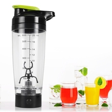 600ml Creative Plastic Automatic Stirring Bottle Electric Coffee Milk Rotating Cup Automatic Vortex Protein Shaker Water Bottle