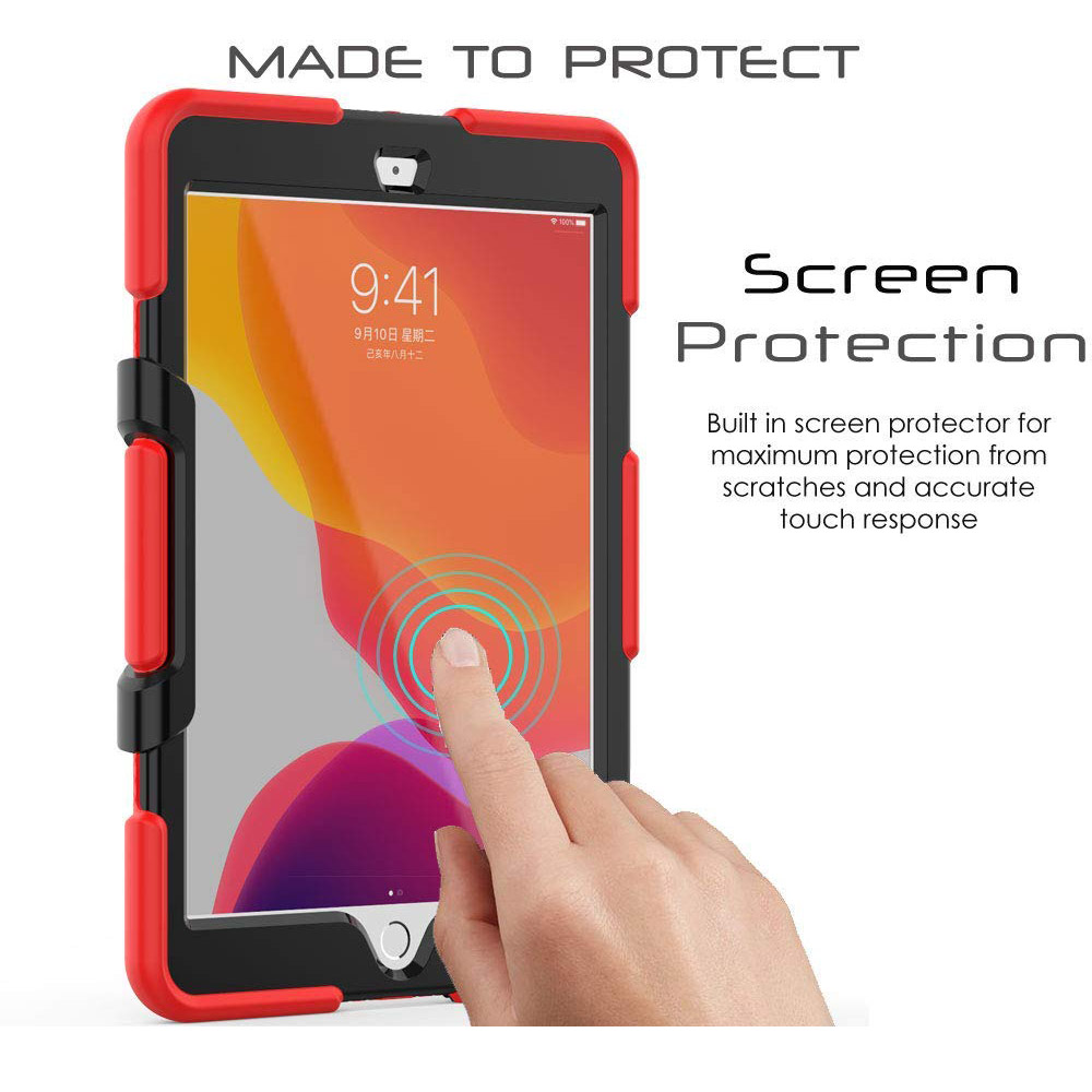Case For Armor Heavy 10.2 Silicone Duty Case iPad PC Rugged Shockproof Kickstand Kids