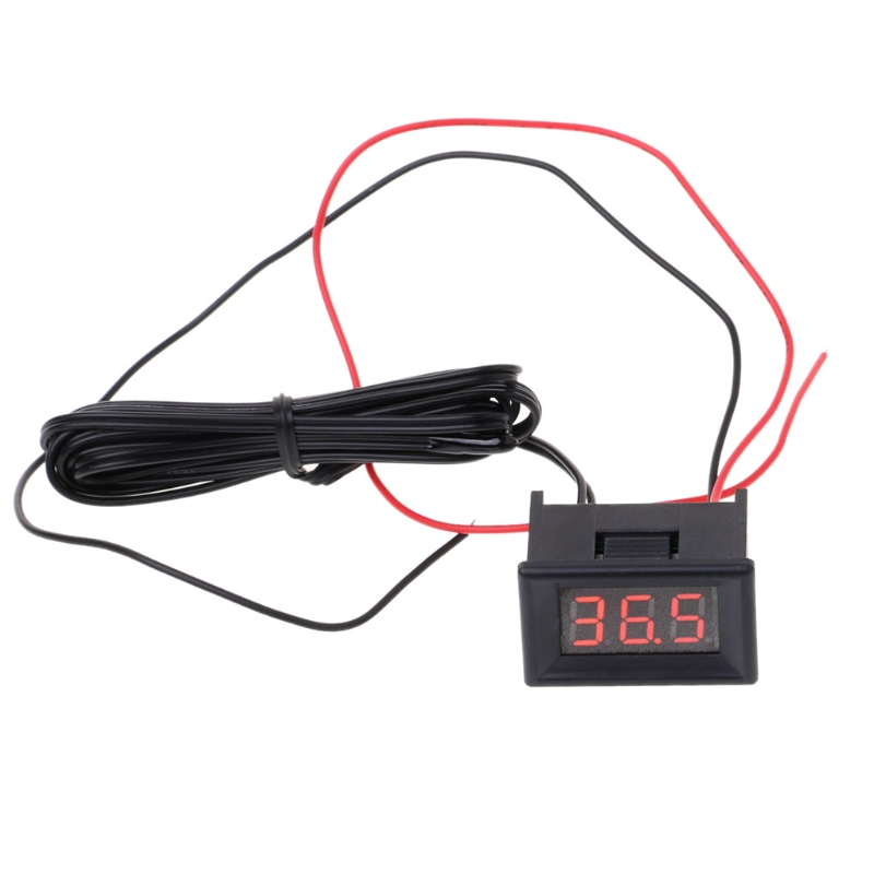 1PC LED Digital Thermometer Car Probe Fridge Freezer Thermometer Thermograph for Refrigerator -<font><b>40</b></font>~ <font><b>120</b></font> Degree DIY Refitting image