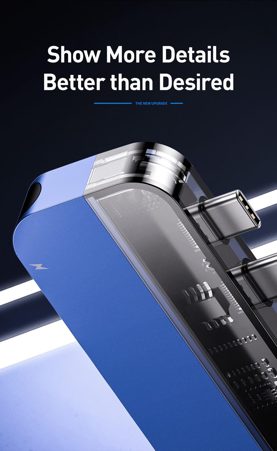 Baseus Transparent Series Dual-Port Type-C Multifunctional HUB 10