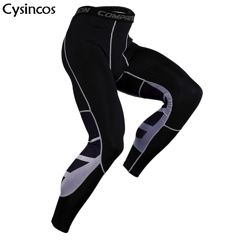 Bodybuilding Workout Tight Joggers Pants Men 2019 Mens Compression Leggings Fitness Sweatpants Gyms Quick Dry Skinny Trousers