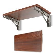 2Pcs 8-16 Inch Triangle Folding Angle Bracket Decorative Wall Mounted Shelf Bracket Support Foldable Table Support