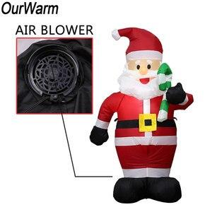Image 5 - Estátua inflável 2021 decoração da festa de natal hotel inflatables papai noel bonito 120cm ano novo decoração para casa kerst natal