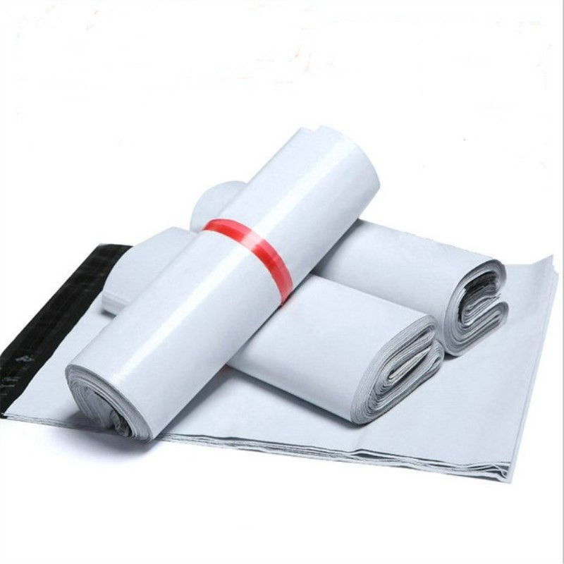 50Pcs/Lot Mailing Bags 13cm*24cm Envelope Shipping Bags White PA PE Courier Bags Self-seal Adhesive Storage Bags