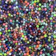 100pcs 6mm Acrylic Big Ball Balls Replacement Nose Barbell Earring Tongue Eyebrow Ring Body Piercing Jewelry(China)