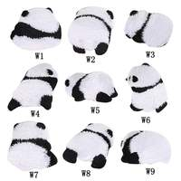 Panda Embroidered Cloth Stickers Cartoon Cute Little Panda Fabric Patch Clothing Accessories Decoration New2