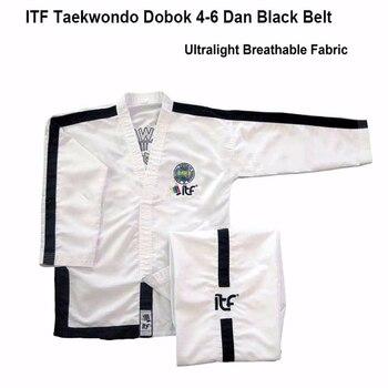 New White Ultralight Breathable ITF Approve Taekwondo Assistant Uniform master Doboks With Design Embroidery Kimono suit 1-6 Dan
