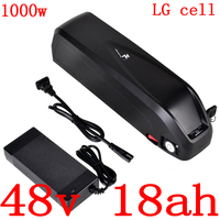 48V 500W 750W 1000W battery 52V 10AH 13AH 13AH 14AH 17AH lithium battery 48V 10AH 14AH 17AH electric bicycle battery use LG cell