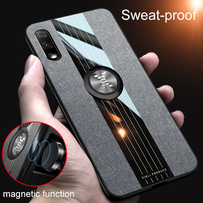 Leather Ring Armor Case For Huawei P Smart Z Y9 Prime 2019 P20 P30 P40 Pro Mate 10 20 30 Lite Honor 10i 9X 20 Nova 5T 6SE 3i Y9S(China)