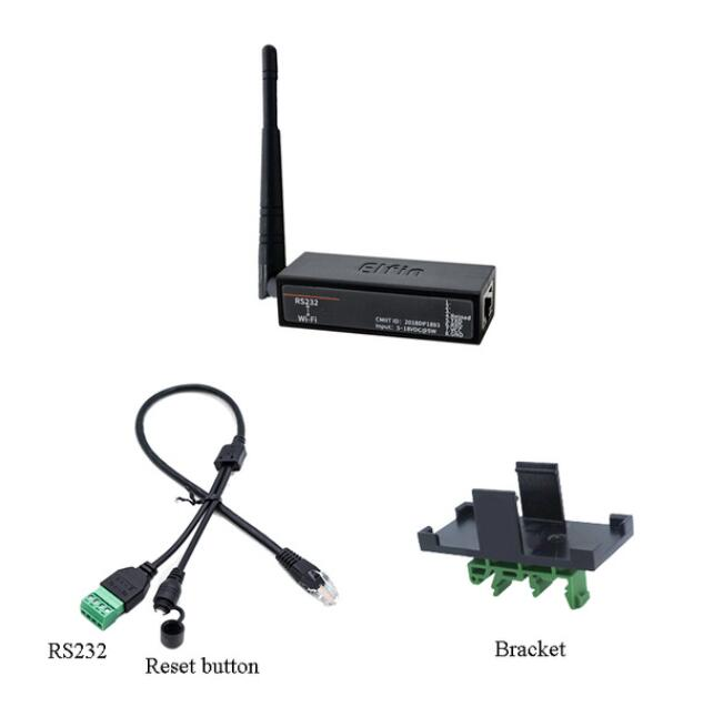 Serial Port RS232 To WiFi Converter Elfin-EW10 IOT For Data Transmission Support TCP/IP Telnet Modbus