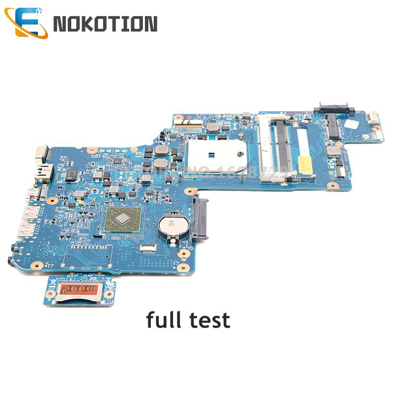 NOKOTION Laptop Motherboard For Toshiba Satellite L875D L870D H000043850 H000043580 PLAC CSAC UMA Socket fs1 DDR3 MAIN BOARD