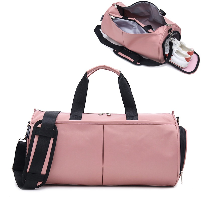 Crocosport Woman Gym Bag Yoga Bags Women Fitness Sports Black Bag Backpacks Portable Travel Training Bag With Shoes Compartment