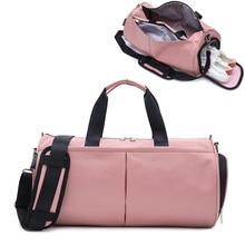 Crocosport mujer bolsa de gimnasio bolsas de Yoga mujeres Fitness deportes bolsa negra mochilas portátil viaje bolsa de entrenamiento con compartimento de zapatos
