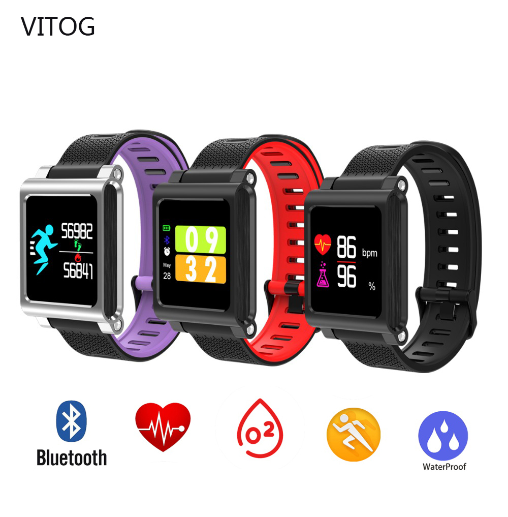 K8 Smart Watch Wristbands Band 4 Color IP67 Waterproof Run Swim IOS Android mi App Reminder Heart Rate Sleep Health Tracker image