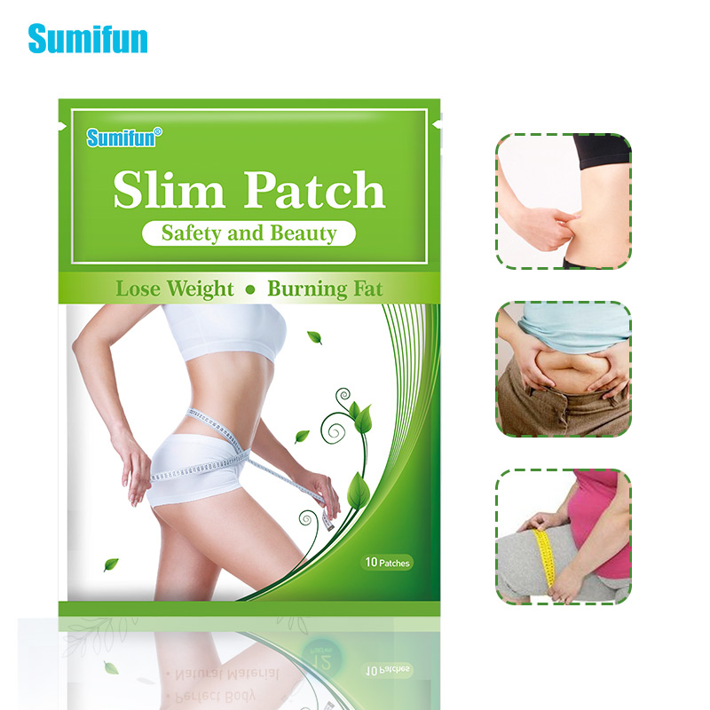 Sumifun 10pcs/Bag Slimming Patch Hot Body Slim Patches Slim Navel Stick Diet Products Weight Loss Burning Fat Patches K04201 image