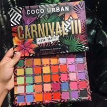 Liebe Tahiti Karneval 40 Farben Lidschatten Make-Up Palette Glitter Regenbogen Bunte Shimmer Matte Seidige Lidschatten TSLM1