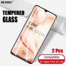 2 Pcs Volledige Gehard Glas Voor Oppo Vinden X2 Lite Screen Protector 2.5D 9 H Gehard Glas Voor Oppo Vinden x2 Lite Beschermende Film