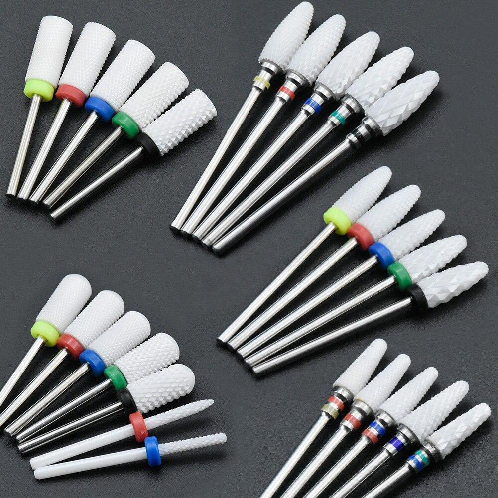 Timistory керамический сверло для ногтей Электрический ногтей фреза для Маникюр Педикюр Nail Art аксессуары инструмент удалить лак для ногтей