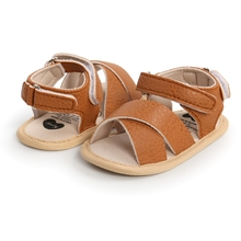 Baby Boy Girl Sandals Summer Toddler Baby PU Leather Shoes Newborns Non slip First Walkers 0 18Months