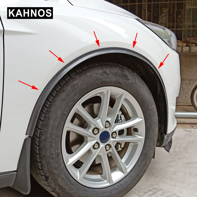 1 5M Universal Wheel Eyebrow Protector Carbon Fiber Car Fender Flares Protector Strip Arch Wheel Eyebrow Protection