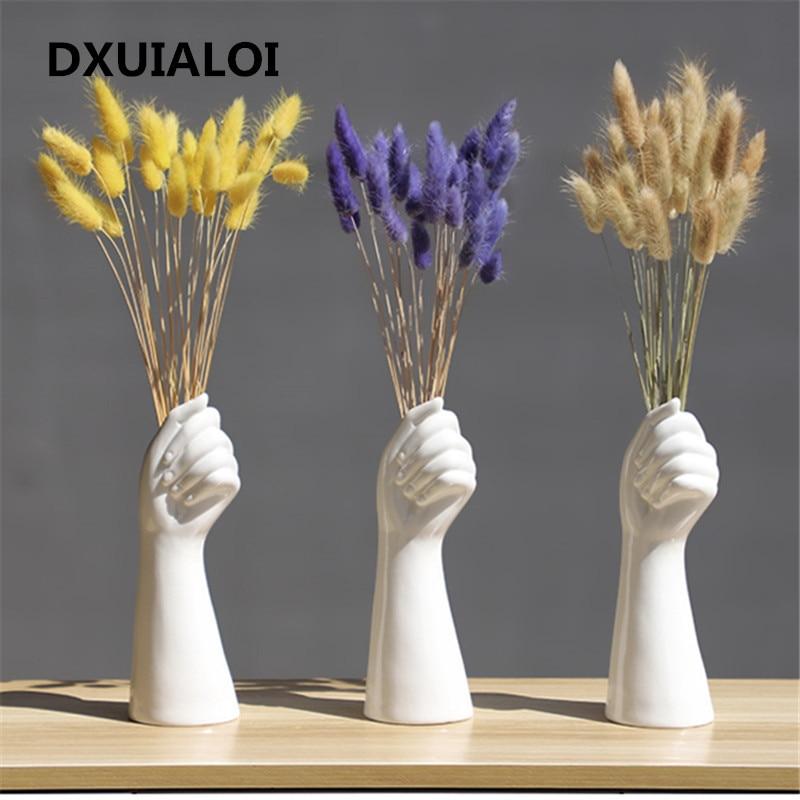 13.8US $  ceramics vase Nordic style Golden Hand Vase Flowers Modern Home Office Decor of Creative F...