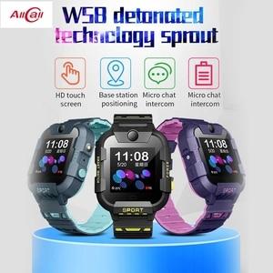 Image 1 - AllCall W58 Kids Smart Watch GPS Tracker 4G SIM Card Video Call with Light Camera SOS IP67 Waterproof Smartwatch For Girls Boys